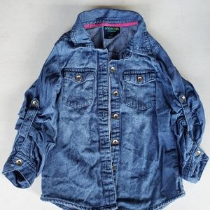 Girls' Denim Button Down Shirt